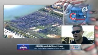 <b>Len Kasper</b> interviews Theo Epstein at Cubs parade