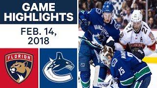 NHL Game Highlights   Panthers vs. Canucks - Feb. 14, - 2018