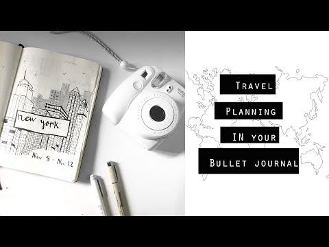 How to Travel plan | Bullet Journal MINIMALISTIC
