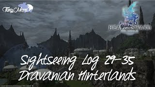 FFXIV Heavensward - Sightseeing Log 29-35 at The Dravanian Hinterlands [Visual Guide]