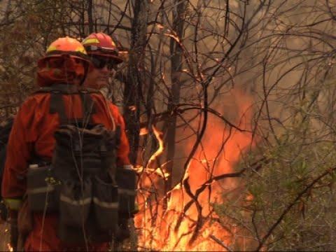 Raw: Over 3,000 Firefighters Battle Calif. Blaze