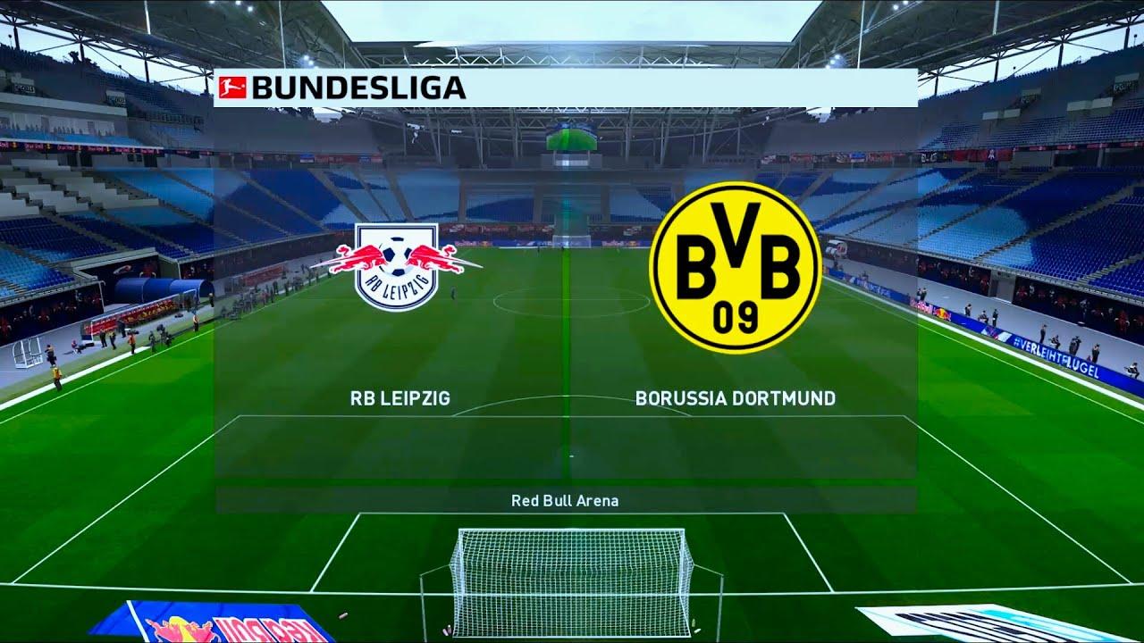 Rb Leipzig Vs Borussia Dortmund Red Bull Arena 2019 20 Bundesliga Pes 2020 Youtube