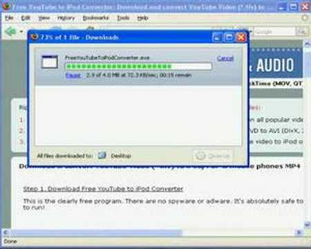YouTube to iPod video converter download