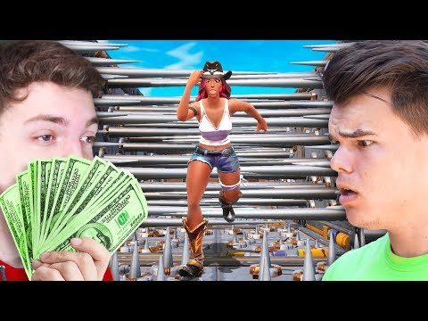 JELLY vs SLOGOMAN $1000 Fortnite Deathrun Challenge!