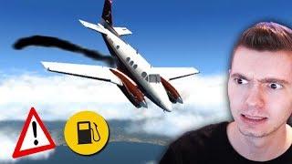 ACABOU GASOLINA do AVIÃO!!! (DEU ACIDENTE) - X Plane 11