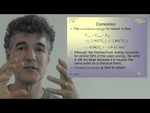 Chem 131A. Lec 20. Quantum Principles: Hartree-Fock Calculations, Spin, and Slater Determinants