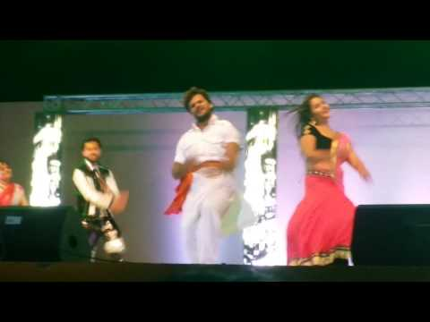 Laga ke fair lovely kajal raghwani with Khesari Lal Yadav bhojpuri muqabala doha qatar 17 March 2017