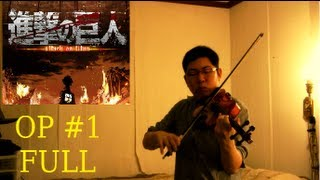 Repeat youtube video Guren No Yumiya FULL Violin Cover - Shingeki No Kyojin (Attack on Titan) 進撃の巨人 紅蓮