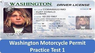Washington Motorcycle Permit Practice Test 1