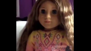 How to straighten your dolls hair without heat! | Saige Grace |