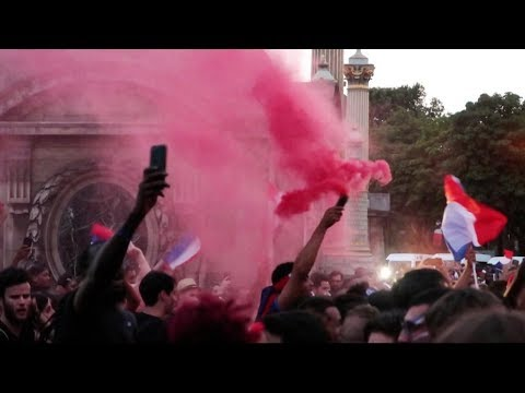 France Wins 2018 World Cup! Party in Paris!