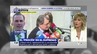 Javier Ortega en Espejo Público frente al Tribunal Supremo 21.02.2018