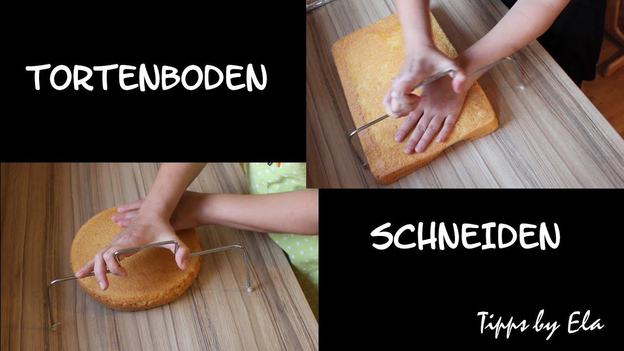 Selbst Gemachten Tortenboden Schneiden Wiener Boden Tippsbyela