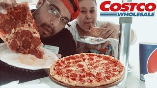 COSTCO CHEESY PIZZA MUKBANG 먹방  | EATING SHOW | COSTCO FOOD COURT |