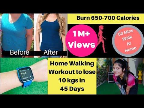 Home Walking Challenge to lose 10 kgs in 45 Days | Burn 650-700 Calories | Somya Luhadia