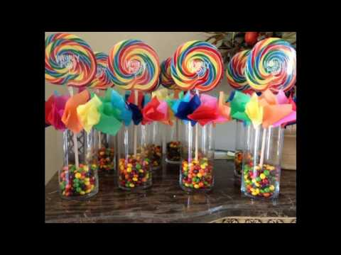 Rainbow party themed decorating ideas