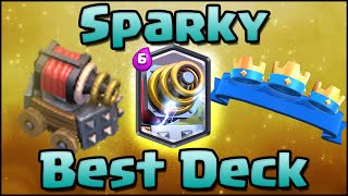 Clash Royale - Best Sparky Deck and Attack Strategy for Arena 6, 7, 8 | Sparky + Wizard Combo Deck