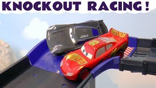 Disney Cars Toys McQueen Cars 3 Knockout Racing with Hot Wheels Car and funny Funlings for kids TT4U