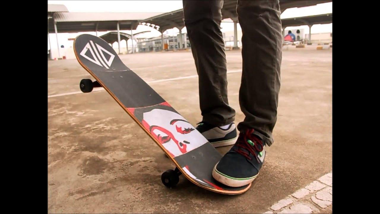 Beginner skateboarding trick tips:ollie and kickflip - YouTube
