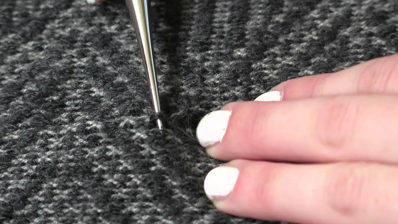 How To Fix A Snagged Sweater Youtube