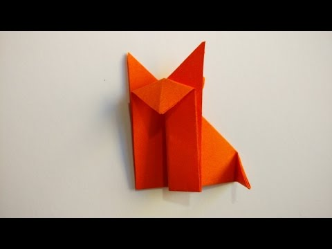 How To Make An Easy Origami Fox - Origami Animals - YouTube