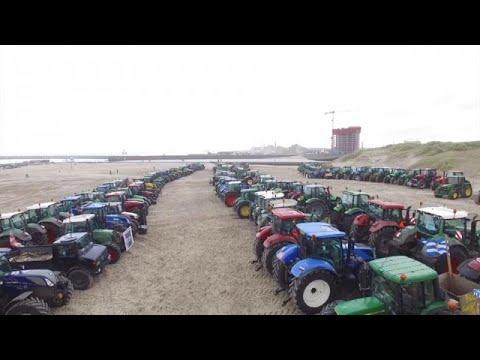 1136 Km Stau: Niederländische Bauern Verstopfen Die Straßen Von Den Haag