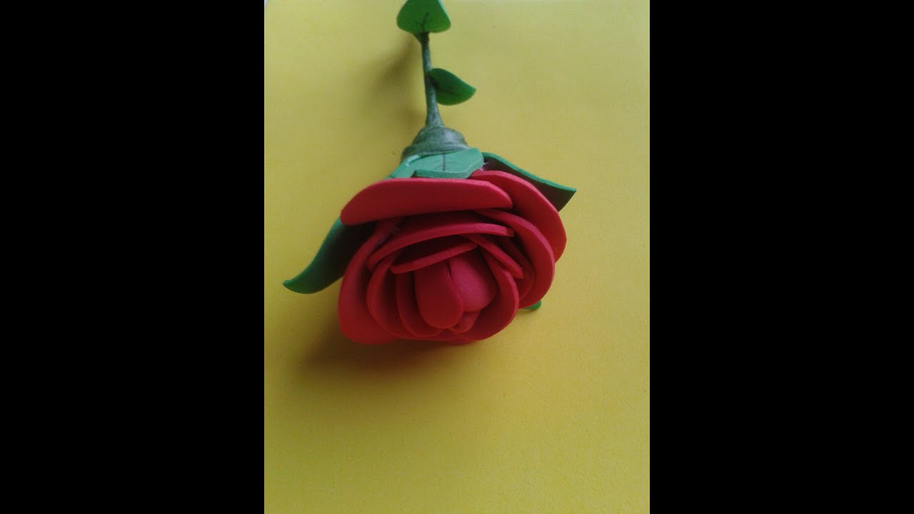 Manualidades rosa de goma eva paso a paso rose foami - Flore de goma eva ...