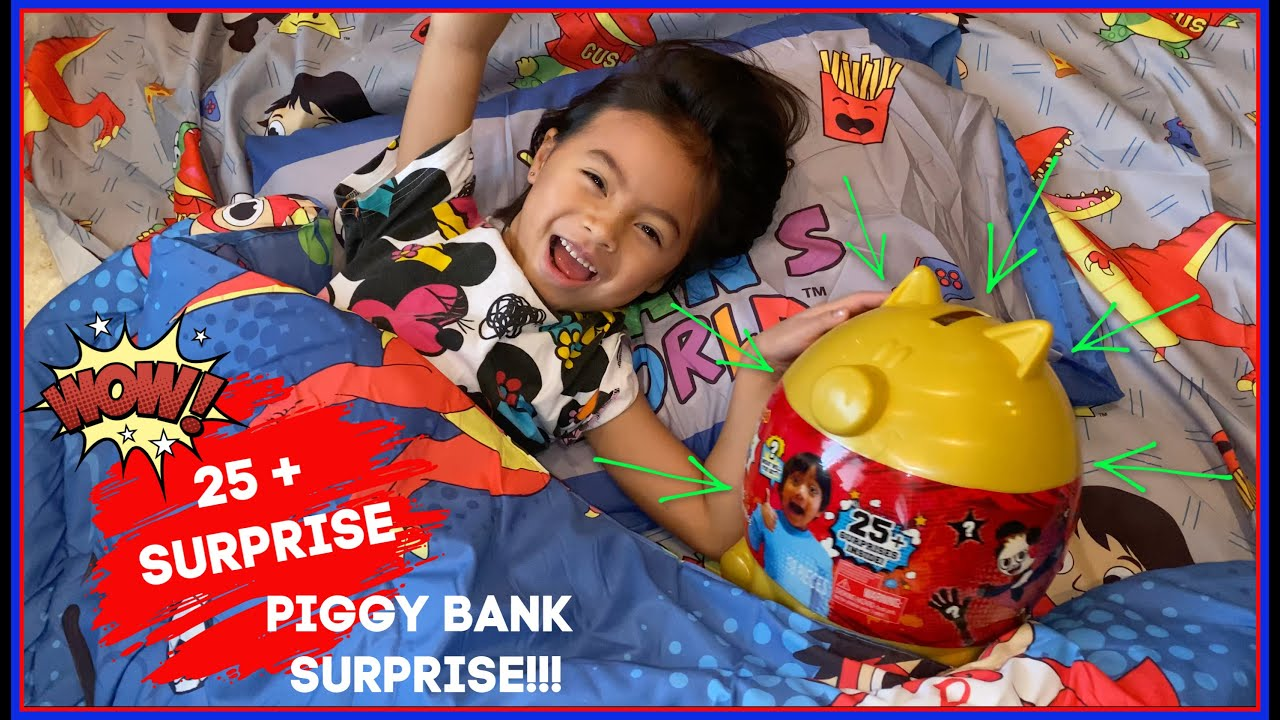 EXCLUSIVE /& READY TO SHIP Ryan's World Deluxe Piggy Bank Surprise