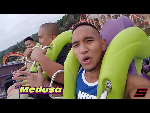 VLOG - FILMING ON THRILL ROLLER COASTER (SIX FLAGS)