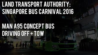 LTA: MAN A95 Concept Bus Driving Off + Tow