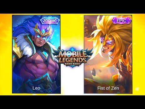 Badang Fist of Zen Epic Skin VS Leo Zodiac Skin Mobile Legends Bang Bang