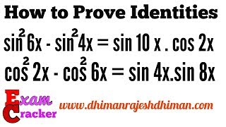 HOW TO FIND TRIGONOMETRIC ANGLES , PROVING TRIGONOMETRIC IDENTITIES