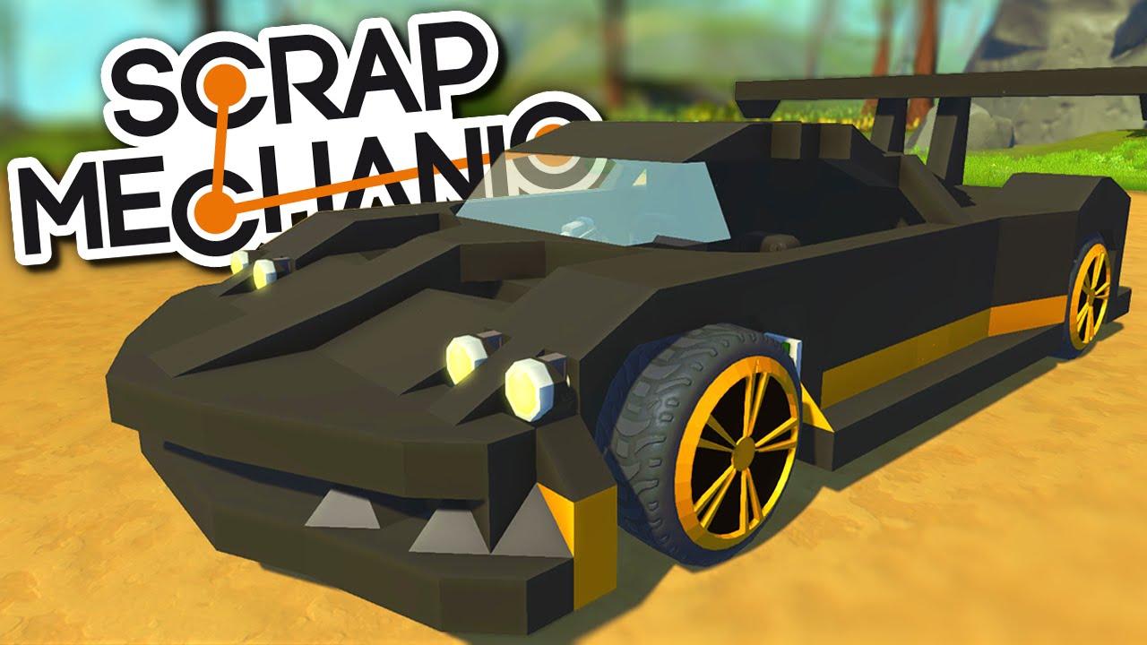 Scrap Mechanic CREATIONS - THE MOST AMAZING CARS! FERRARI F40 ...