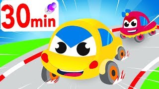 Learning Colors with Baby Car and Friends, Trucks, Cars, Family Finger Compilation by Little Angel