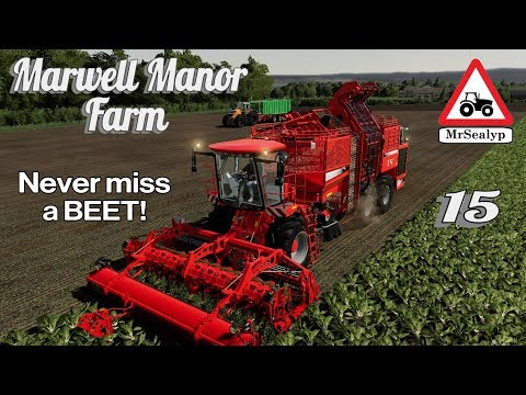 Marwell Manor Farm, #15, PS4, Farming Simulator 19. Never Miss A BEET! Let's Play/Role Play.