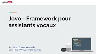 Présentation de Jovo, un framework pour les assistants vocaux