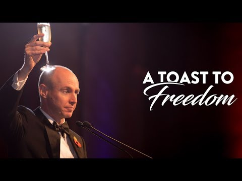 Daniel Hannan gives the Toast to Freedom at Atlas Network's Freedom Dinner 2017