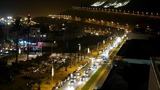 # covid19.      #Agadir ( night and day) after the lockdown      جولة بمدينة أكادير بعد الحجر الصحي