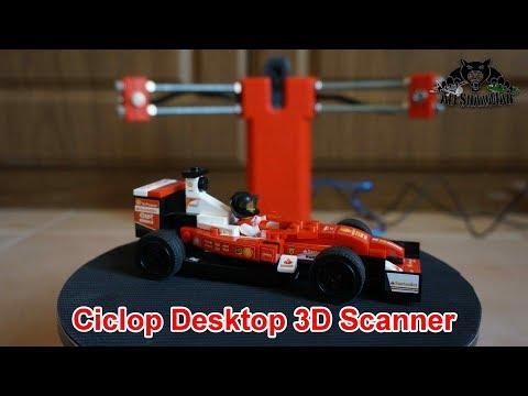 Ciclop Desktop 3D Laser Scanner Complete Review
