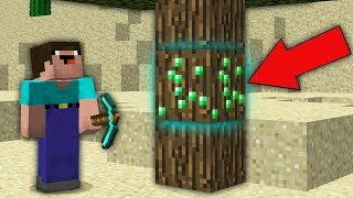 Minecraft NOOB vs PRO : NOOB DIGGING MINE AND FOUND THIS EMERALDS IN TREE! Challenge 100% trolling