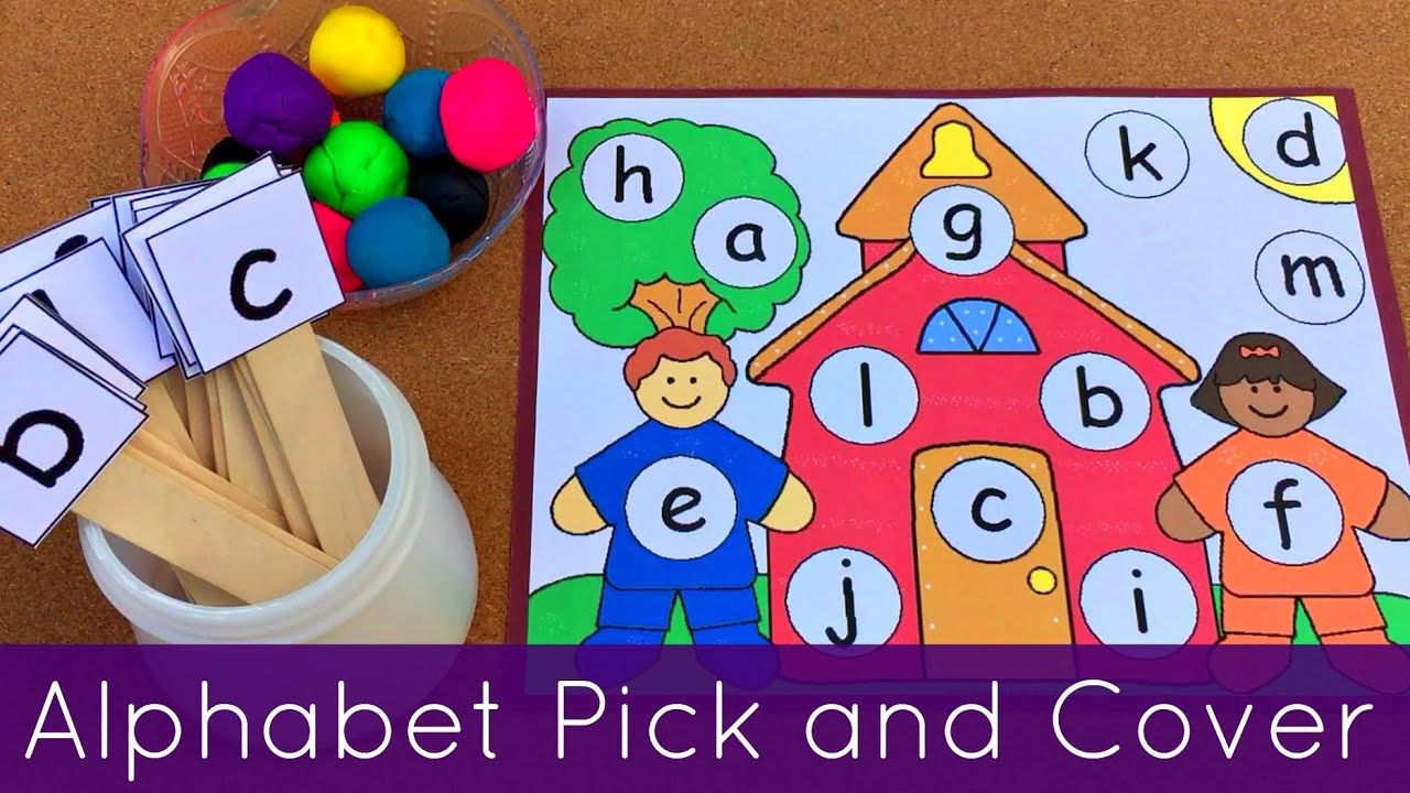 Preschool And Kindergarten Alphabet Recognition Fine Motor Acitivity