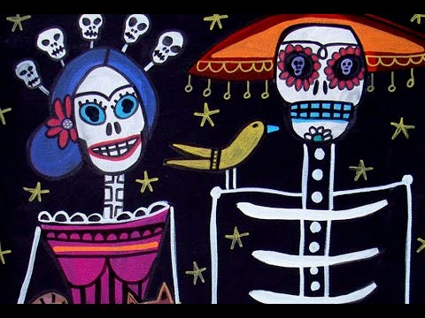 Day Of The Dead Art By Artist Heather Galler Mexican Folk