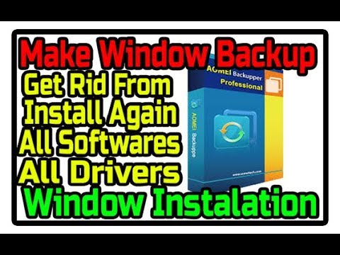 Make A Window Backup | Lecture# 6 | Get Rid From Window Installation | Backup & Restore | 1000% Work