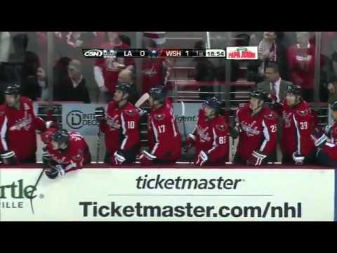 Kings VS Capitals - Alex Ovechkin wrists a laser shot past Jonathan Bernier (February 12 2011)