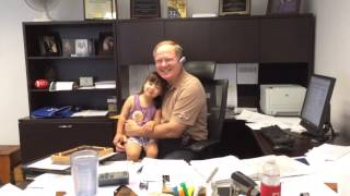 Surprising Grandpa at work!