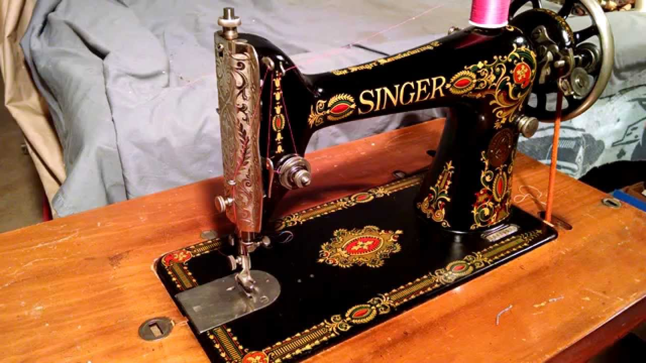 Serviced Antique 1920 Singer 66-1 Red Eye Treadle Sewing Machine ...