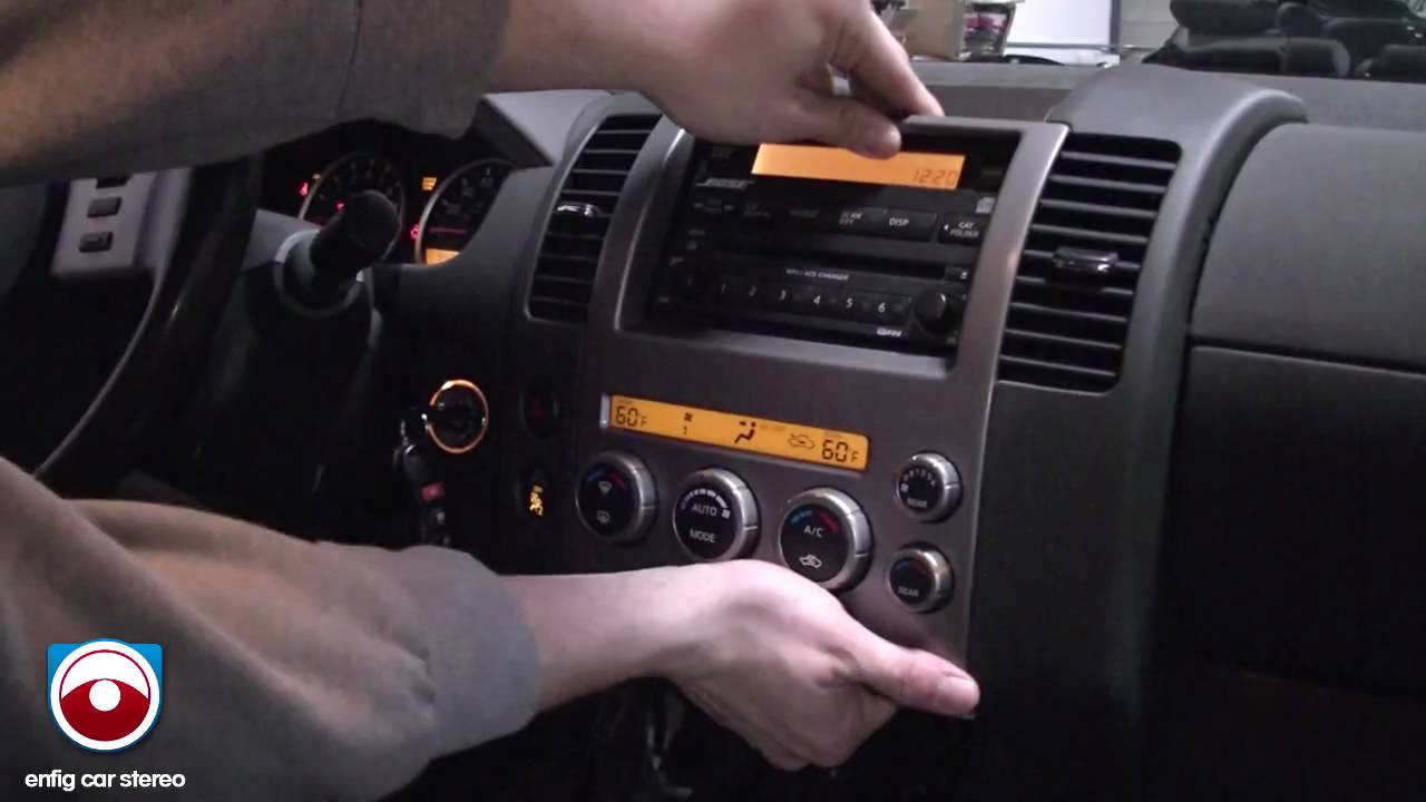 hight resolution of 2005 nissan pathfinder radio removal