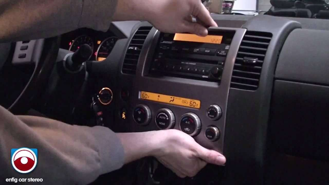 2005 Nissan Pathfinder Radio Removal  YouTube