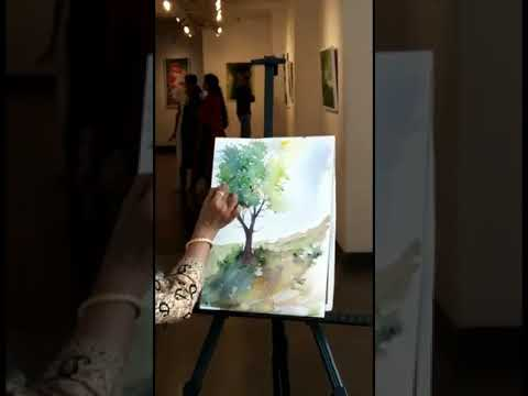 Qucik watercolour demo by Artist Deepthi jayan