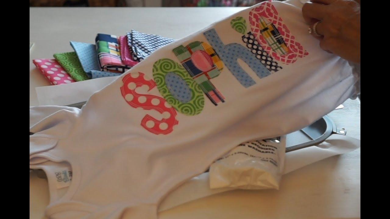 Embroidery applique bean stitch applique font alphabet youtube
